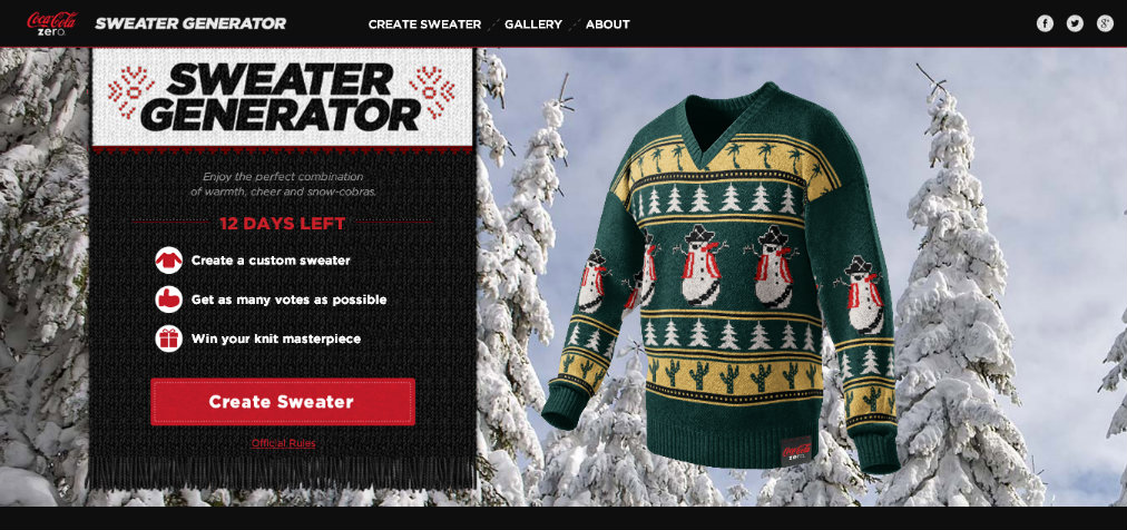 Coke Zero Sweater Generator