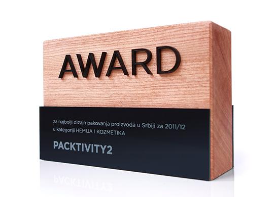 Nagrada Packtivity Award u kategoriji Hemija i kozmetika za Popular bruketa zinic