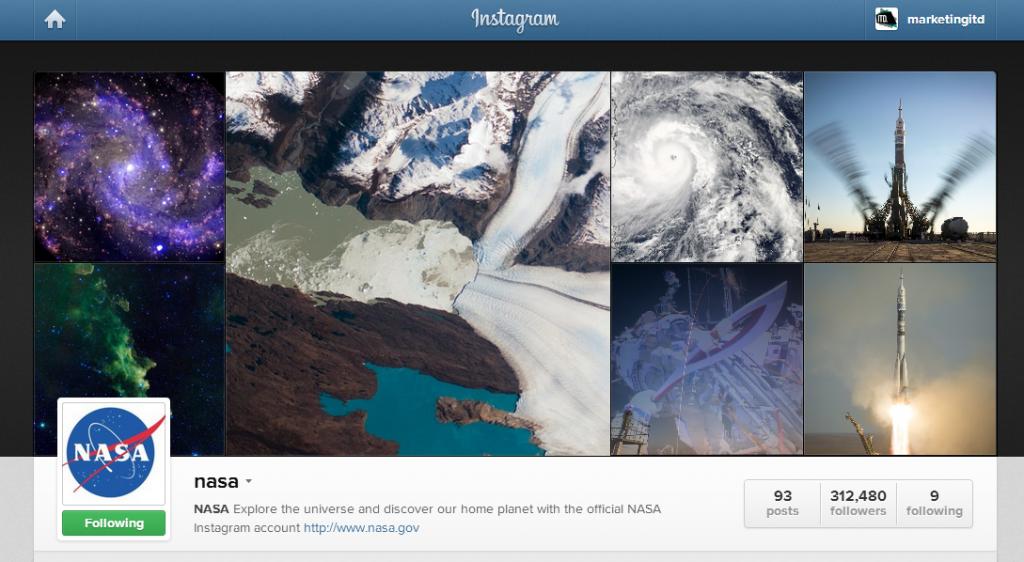nasa on Instagram