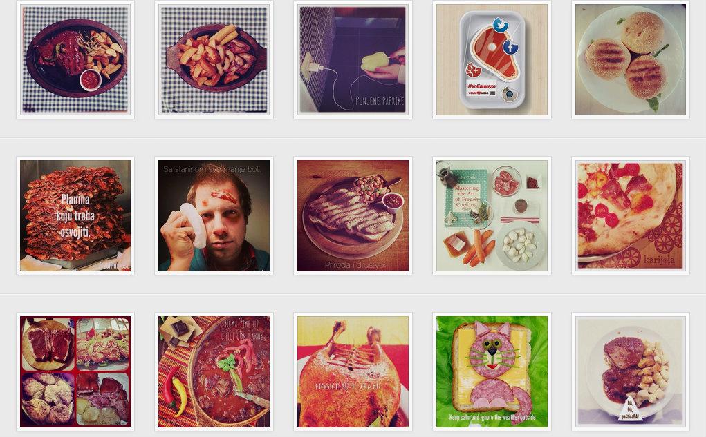 volim meso Instagram