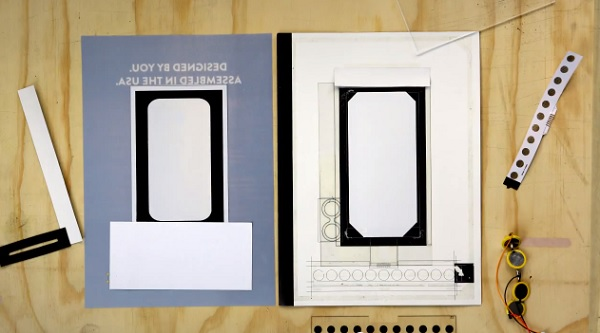 Motorola interactive print Moto X behind