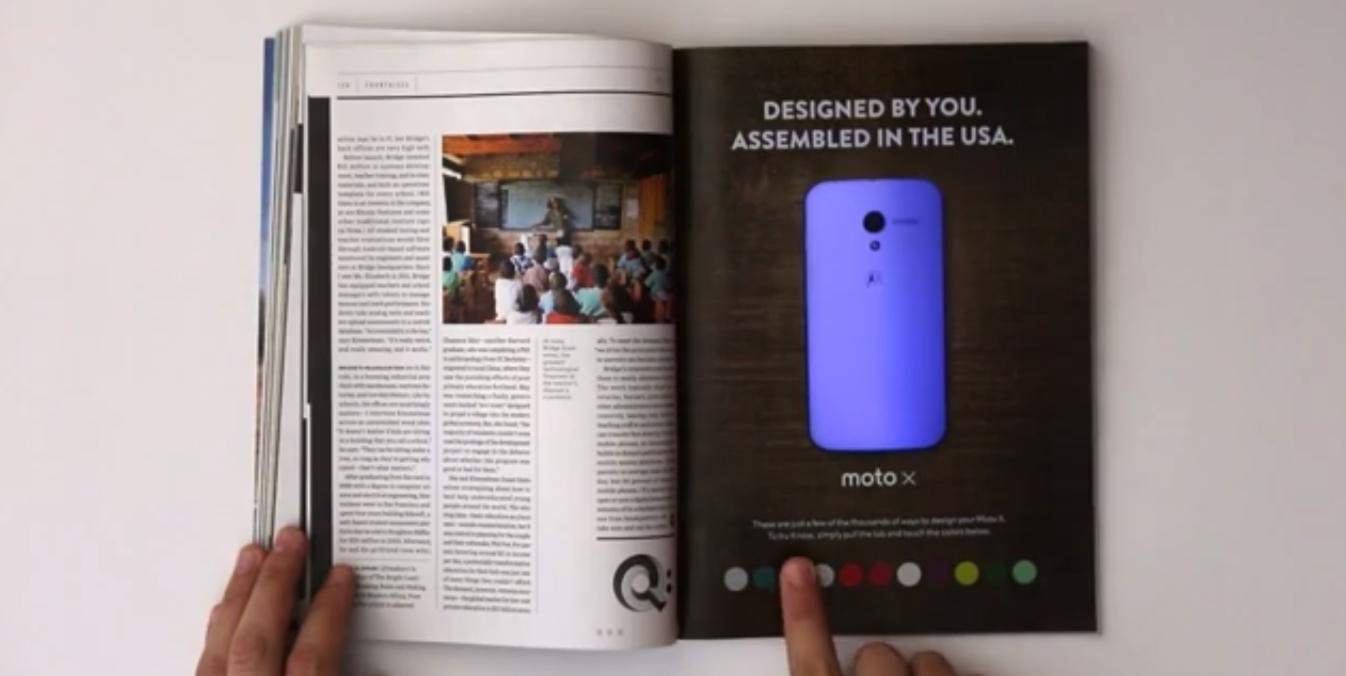 Motorola interactive print Moto X