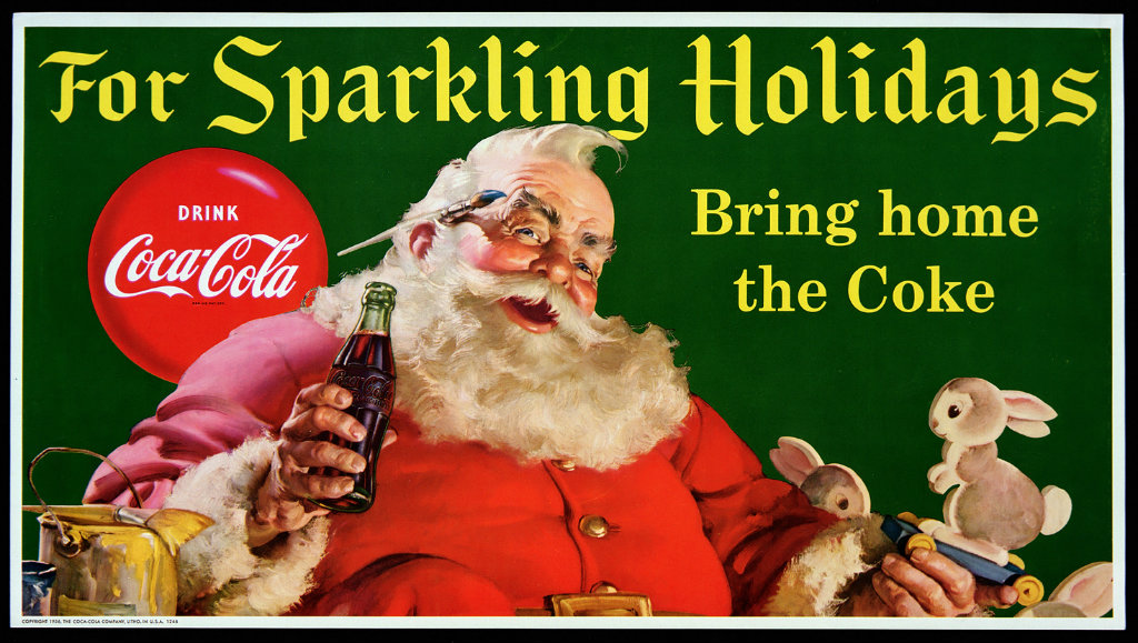 santa claus coke ads