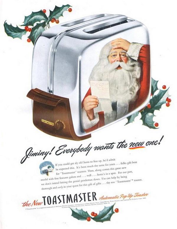 toaster christmas santa