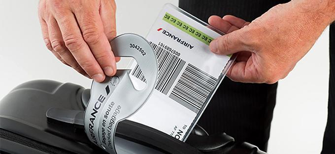 AF print baggage tag