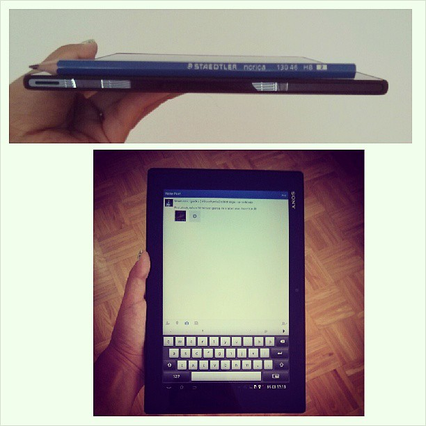 sony xperia tablet design