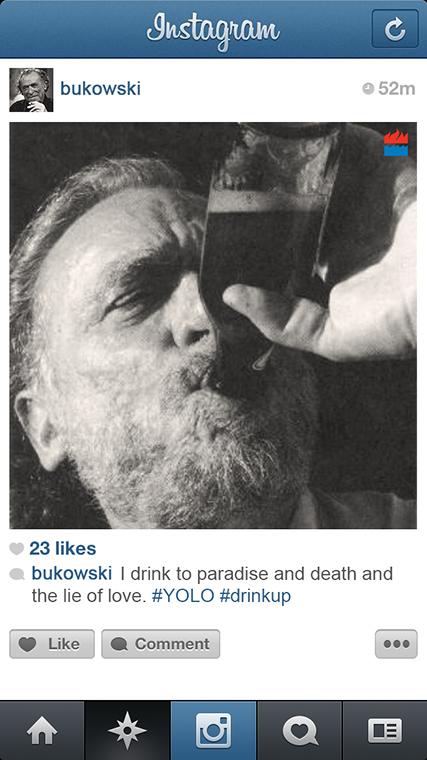 Charles Bukowski instagram