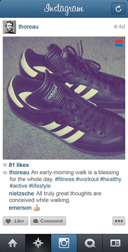 Henry David Thoreau instagram