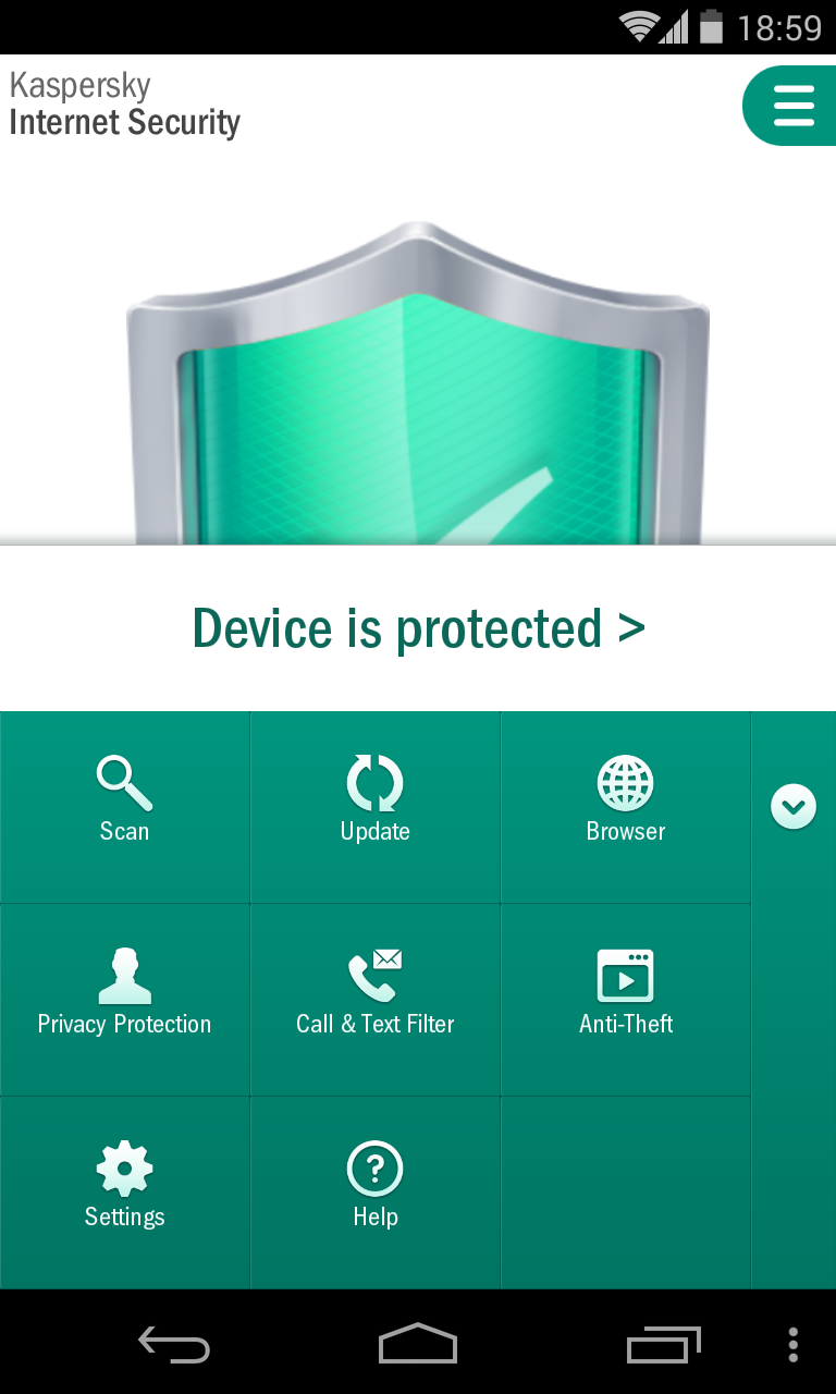LG Nexus Kaspersky Internet Security 2014 Screenshot 4
