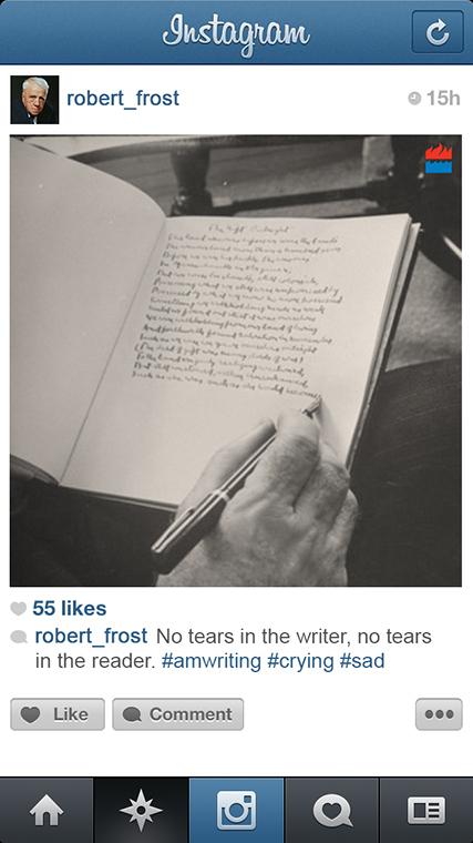 Robert Frost instagram