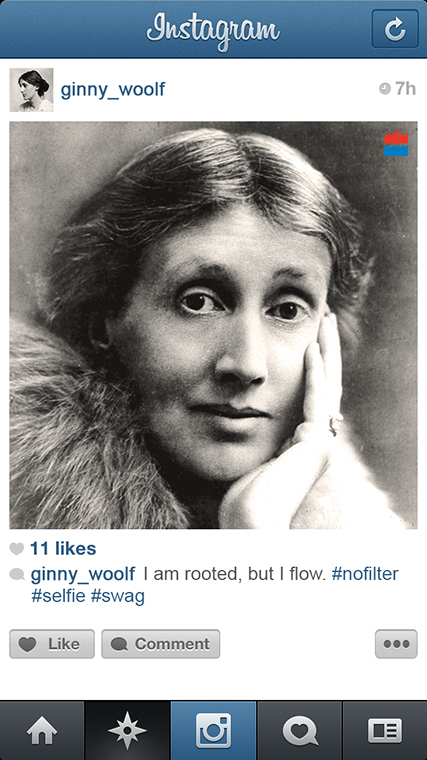 Virginia Woolf instagram