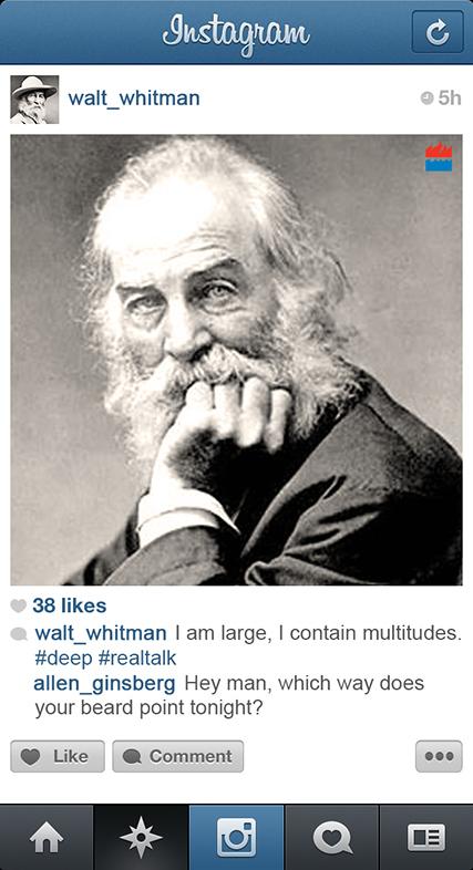 Walt Whitman instagram
