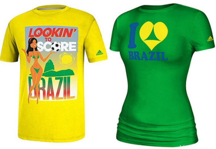 adidas i love brazil t shirts
