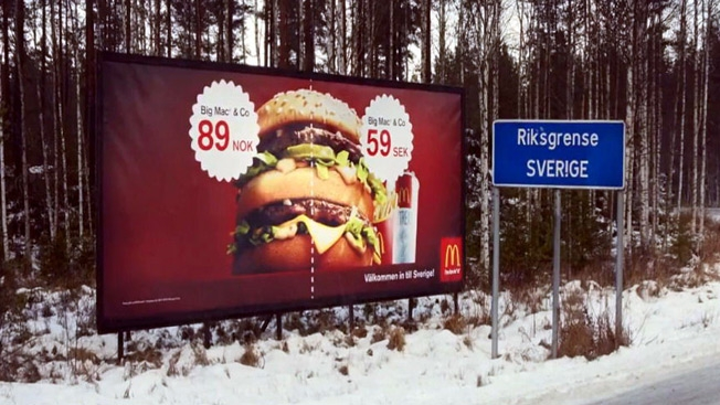 big mac billboard 2014