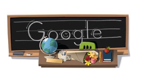 Google Doodle teachers day