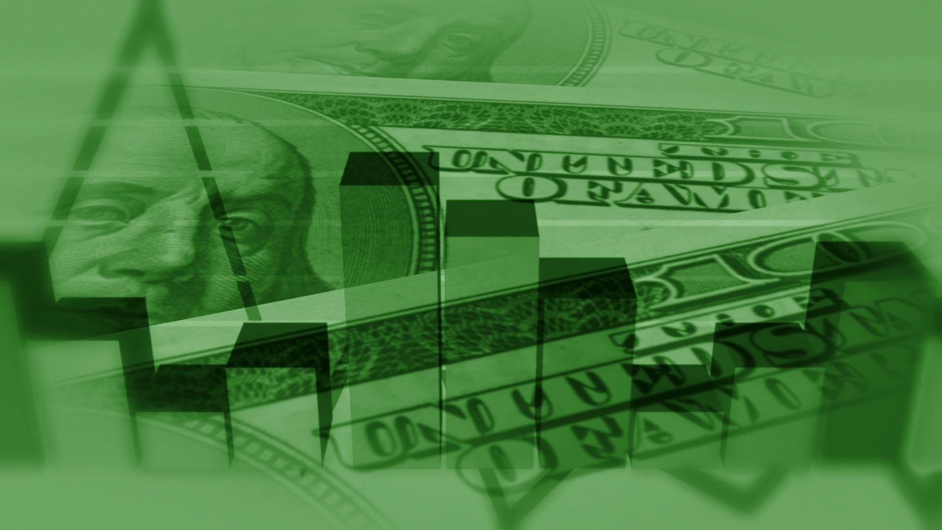 Scrolling Bills and Bar Graphs Money Chart