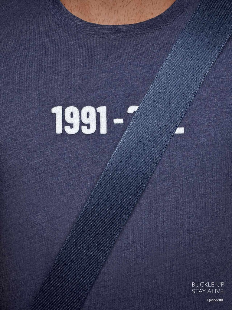 buckle up stay alive blue