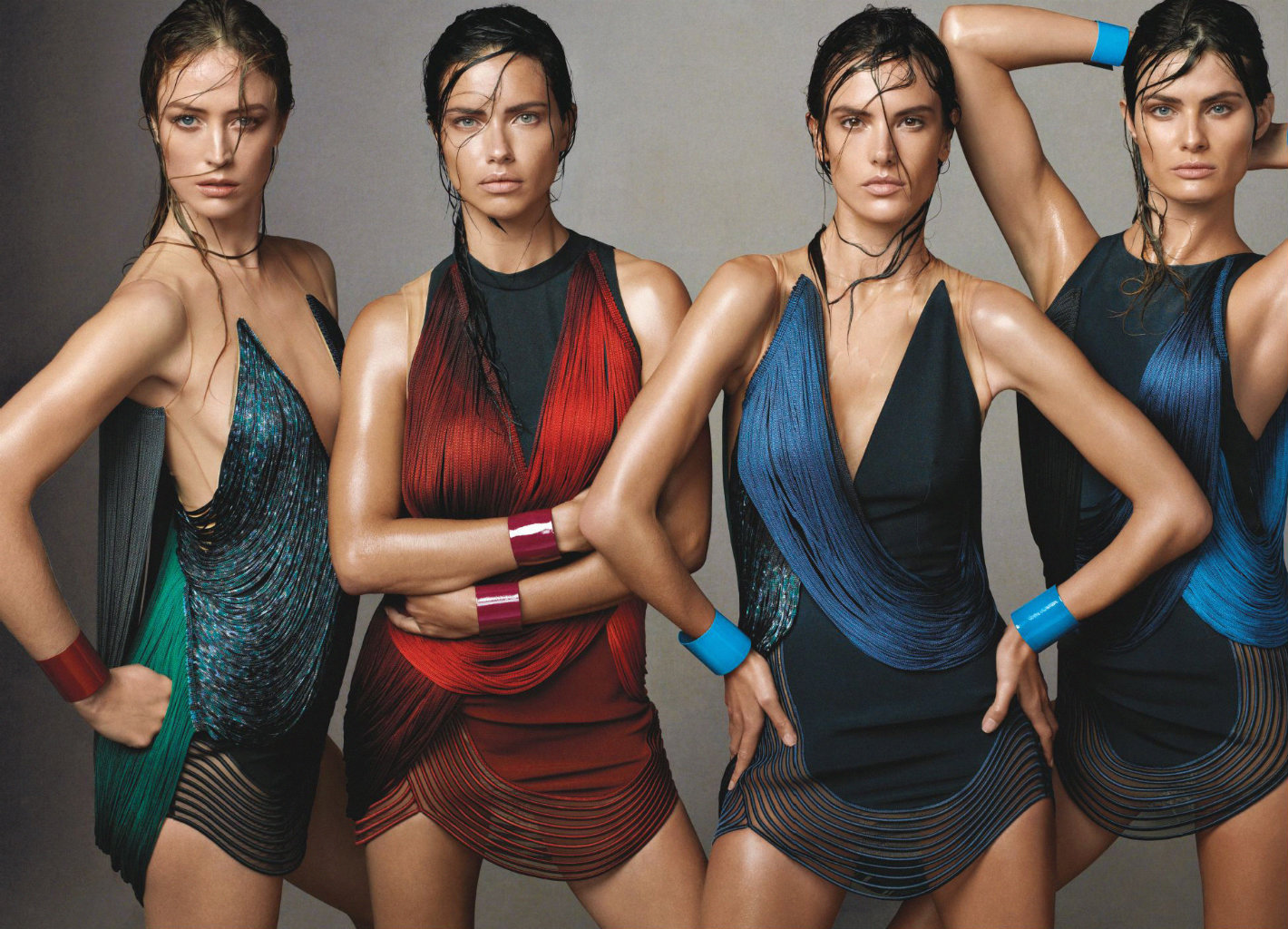 raquel zimmermann adriana lima alessandra ambrosio isabeli fontana by steven meisel for vogue us june 2014
