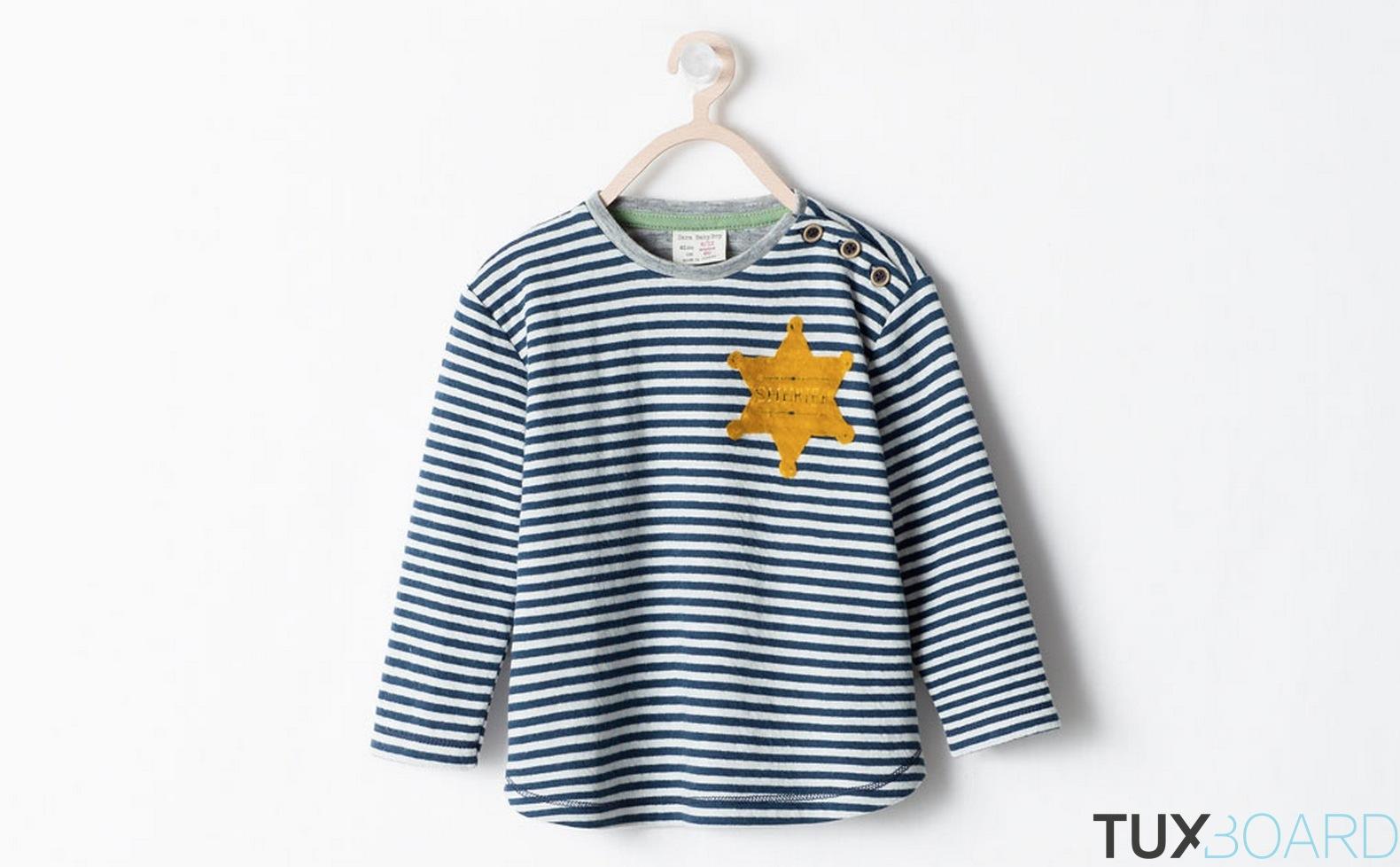 zara t shirt yellow star sherif fail