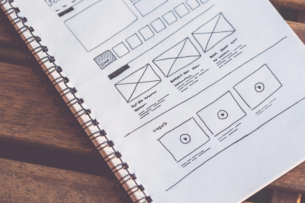 startup website layout wireframes ideas sketched on paper picjumbo com 2
